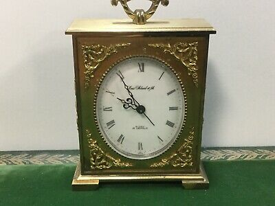Vintage Wind Up Alarm Clock Louis Schwab et Fils 8 Day 15 Jewels - Switzerland