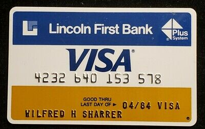 Lincoln First Bank Visa exp 1984♡Free Shipping♡cc972♡