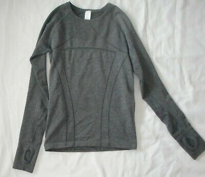 IVIVVA by Lululemon Gray Long Sleeve SWIFTLY Tech FLY Shirt Girl's Size 12
