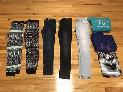 Girls Lot Of Jeans Leggings Leggins Hoodies Shirts Clothes 12 14 Aero Mudd UA