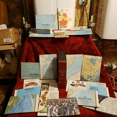 National Geographic Vintage Lot of 23 Maps w/ Box