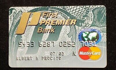 First Premier Bank MasterCard credit card exp 2003♡Free Shipping♡cc975