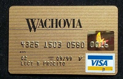 Wachovia Gold Visa credit card exp 1999♡Free Shipping♡cc979
