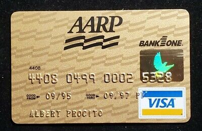 AARP Bank One gold Visa credit card exp 1997♡Free Shipping♡cc987