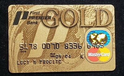 First Premier Bank, SD, Gold MasterCard credit card exp 2004♡Free Shipping♡cc988