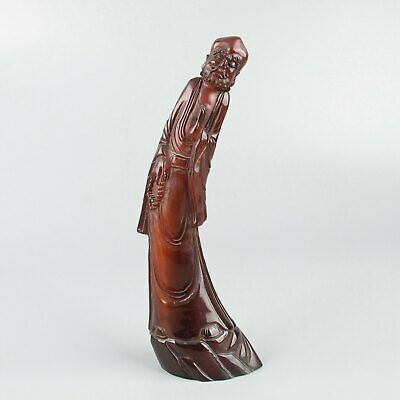 Chinese Exquisite Hand-carved Luohan carving OX Horn statue