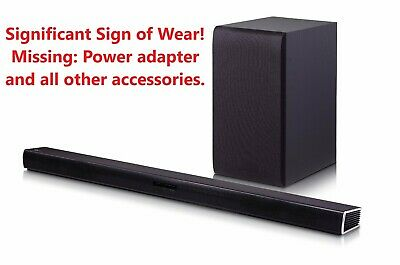 LG Electronics SH4 2.1 Channel 300W Sound Bar with Wireless Subwoofer USED☝☝☝