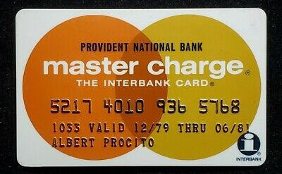 Provident National Bank Philadelphia PA Master Charge♡Free Shipping♡cc990♡