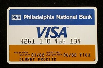 PNB Philadelphia National Bank Visa exp 1982♡Free Shipping♡cc996♡