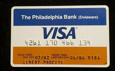 The Philadelphia Bank Delaware Visa exp 1984♡Free Shipping♡cc997♡