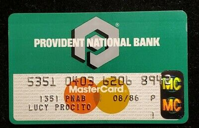 Provident National Bank MasterCard exp 1986♡Free Shipping♡cc998♡