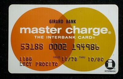Girard Bank Master Charge exp 1980♡Free Shipping♡cc1003♡
