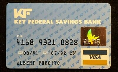 Key Federal Savings Bank Visa exp 1992♡Free Shipping♡cc1005♡