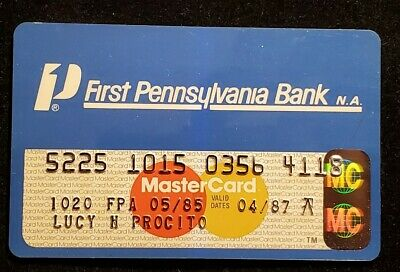 First Pennsylvania Bank MasterCard exp 1987♡Free Shipping♡cc1006♡