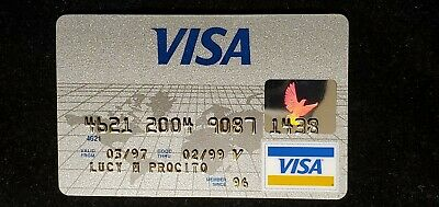 Visa Credit Card exp 1999 ♡Free Shipping♡cc1010♡