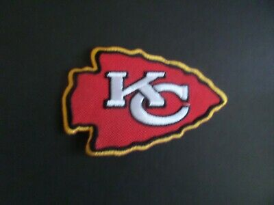 Kansas City Chiefs Yellow & Red Embroidered Iron On Patches  2-3/8 X 3-7/8