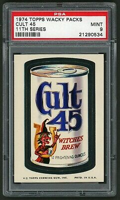 1974 Topps Wacky Packages Sticker Cult 45 11th Series PSA 9 Non-Sports