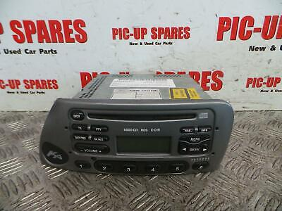 Ford Ka 96-08 Radio CD Player 6000 Rds With Code Silver 328531