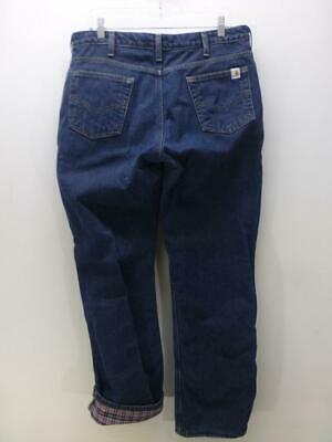 Carhartt WBO22 Relaxed Fit insulated lined denim pants Jeans womens sz 12 x 32