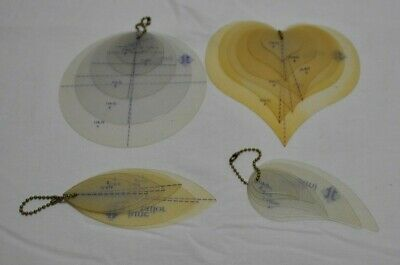 June Tailor's TEMPLATES4 Sets Feather Hearts Circles Leaf For Quilting