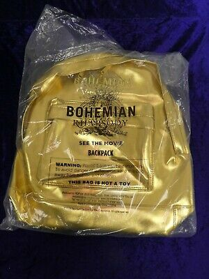 BOHEMIAN RHAPSODY 2018 Official Promo Gold Backpack Queen/Freddie Mercury Unopen