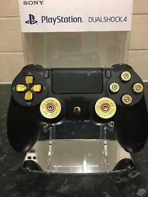 NEW Custom Black Gold Bullet Sony PS4 PlayStation Official Dualshock Controller