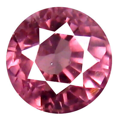0.62 CT AAA + Great Style Forme Ronde (5 X 4 mm) Rose Malaya Gemme Grenat