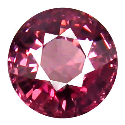 0.94 CT AAA + Scintillant Forme Ronde (6 X 6 mm) Rose Malaya Gemme Grenat