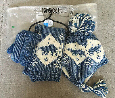Boys Next Scarf, Hat And Mittens Set NNWT Age 3-4