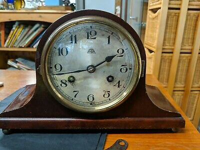 Vintage Mantle Clock, Nepolean Hat style Chiming German Haller,