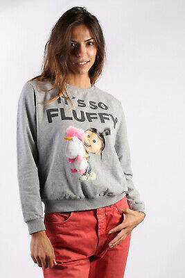 It's so Fluffy Sweatshirt Despicable Me 70s Style Vintage Womens Grey M SW1637
