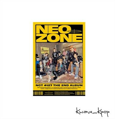 """[Nct #127 Neo Zone] 2Nd Album """"N"""" Version K-Pop Sealed New Album Poster On Pack"""