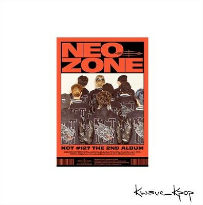 "[Nct #127 Neo Zone] 2Nd Album ""C"" Version K-Pop Sealed New Album Poster On Pack"