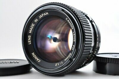 Near mint Canon New FD 50mm f1.2 NFD Bright MF Lens w/ Caps From Japan F/S #1502