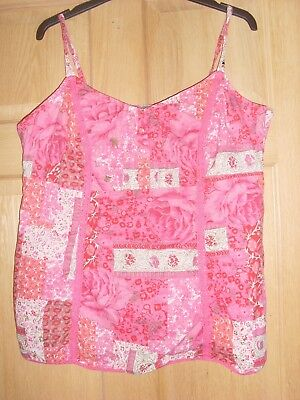 Pretty Pink Floral Marks and Spencer Top Size 14