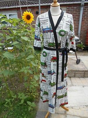 True Vintage 70's Size 14 Train Railway Inspired Robe London Details  St Michael