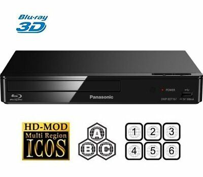 Panasonic DMP-BDT167 3D Bluray Player Multiregion Blu-ray+DVD Refurb