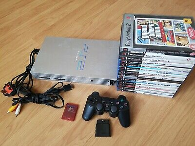 Sony PlayStation 2 PS2 Console Bundle  + Wireless Controller   #5