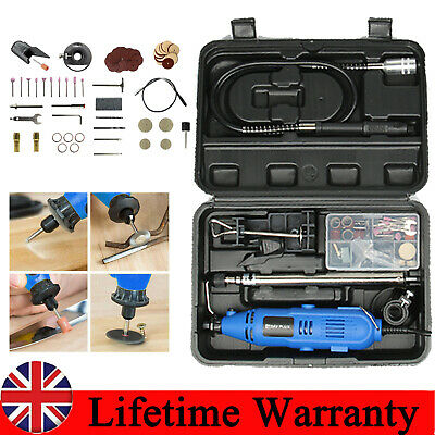 Electric Hobby Rotary Drill Multi Tool Grinder Kit Dremel Accessories 80PC+CASE