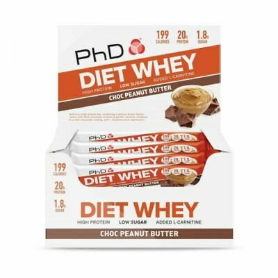 PhD Diet Whey Bars 12 x 65g Bars Protein Bar All Flavours - BEST PRICE