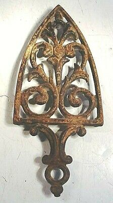 Antique Griswold Cast Iron Trivet #1900 Large Sad Iron Design