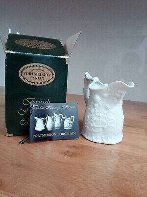 Portmeirion Parian Mask and Flowers Jug. VGC boxed