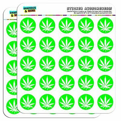 Marijuana Pot Weed Leaf Green Puffy Bubble Dome Scrapbooking Crafting Stickers