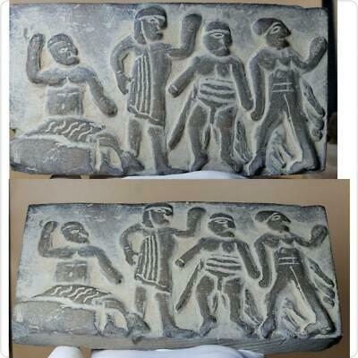 Stunning  Ancient Unique Rare Engraved Carving Art Stone Relief Size 17 cm
