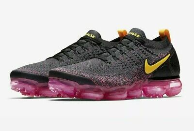 Nike Air Vapormax Flyknit 2 Laser Orange/Pink Blast Shoes 942842-008 Men's 12