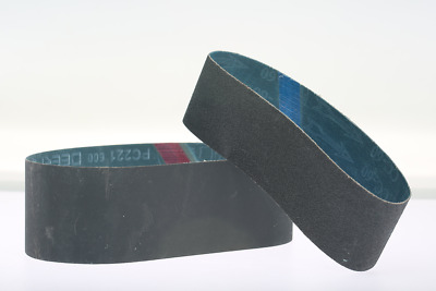 """6""""x1-1/2""""  2Pack 600Grit Silicon Carbide Abrasive Glass Lapidary Sanding Belts"""
