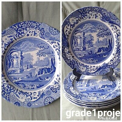 1 Copeland Spode Italian Blue White Dinner Plate vgc 6 available read on