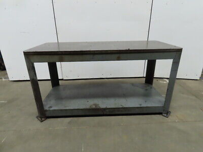 """Heavy Duty Industrial Machine Base Welding Robot Table 30x72x37"""" 1-1/4"""" Thick"""