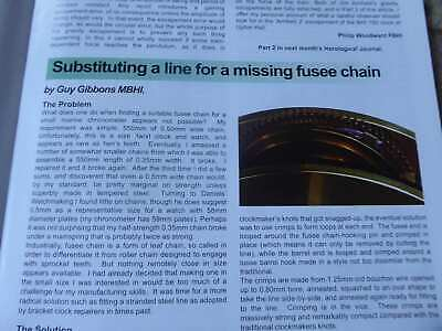 Repairing Fusee Chains With Line Pallet Friction Gdansk Timeball Clock Bhji 2010