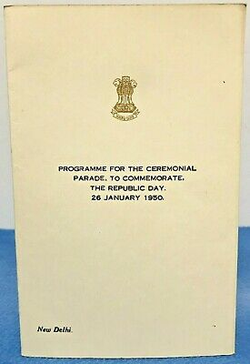 Historical Programme Ceremonial Parade Republic Day New Delhi India January 1950